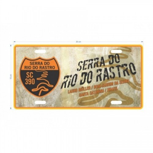 Placa decorativa da Serra do Rio do Rastro II